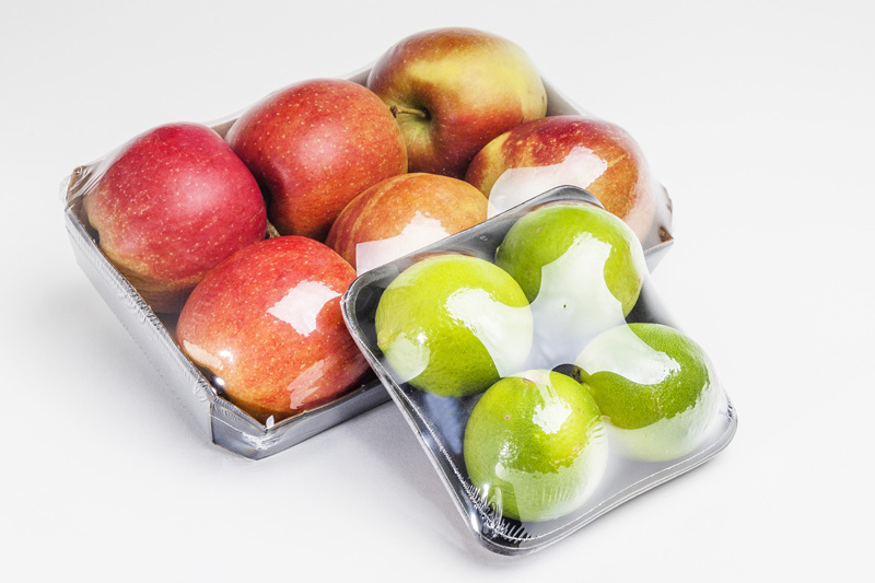 PVC-free shrink wrapping for apples